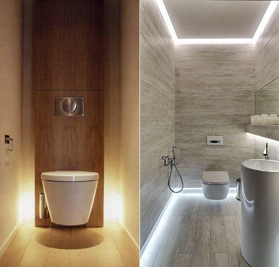 bad-modern-gestalten-mit-licht_kleines-badezimmer-ideen-mit - badezimmer modern gestalten
