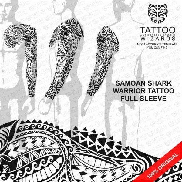 Full sleeve\/Chest Maori Samoan Tribal TATTOO Stencil Template - tattoo template