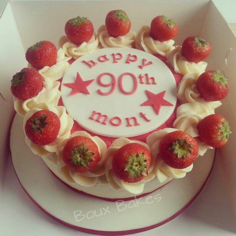 Happy Birthday 39victoria Sponge39 Cake Cakes For Men