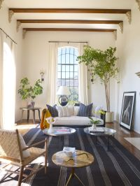 Spanish Colonial | Tall window treatments, Indoor trees ...