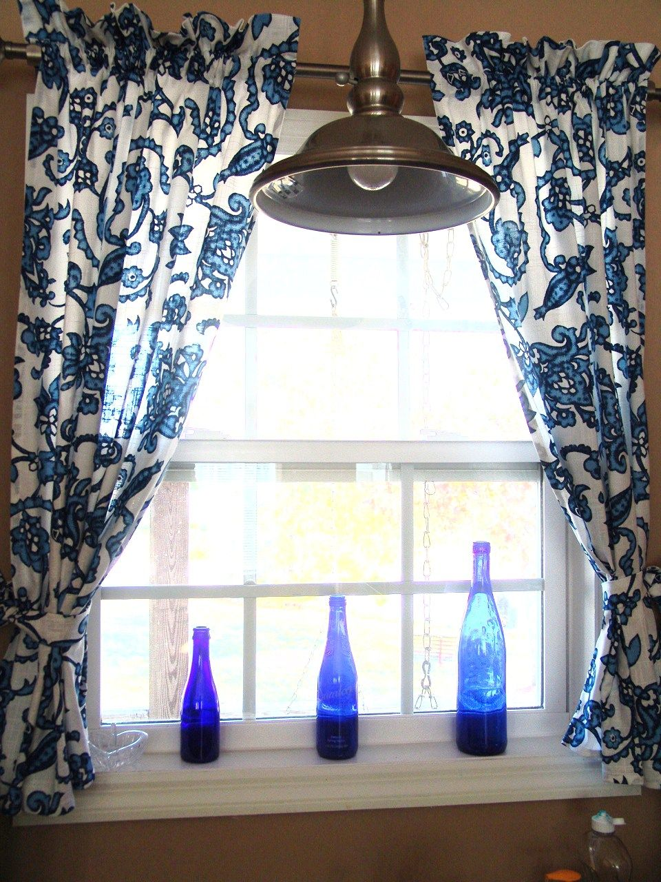 Blue kitchen curtains google search
