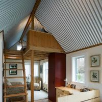 What do you think of a corrugated metal ceiling? - http ...