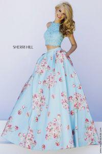 sherri hill 2 piece prom dress 2015 in white - Google ...