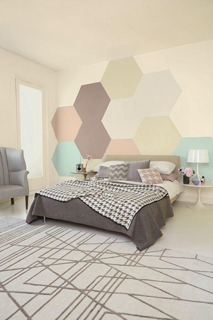 waende gestalten wandgestaltung farbgestaltung hexagon Pinterest - wandgestaltung
