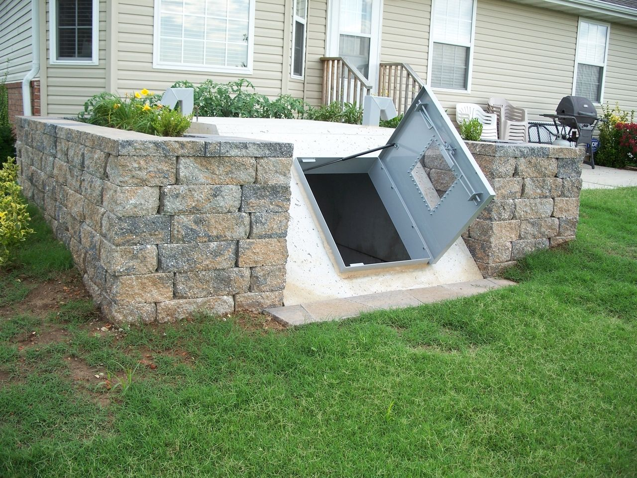 Cellar Door Plans Underground Storm Tornado Shelter In Landscaping Storage