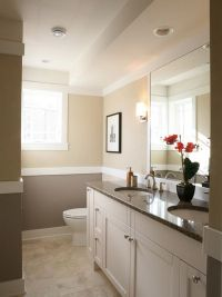 Cream and Grey Bathroom Color Painting Ideas