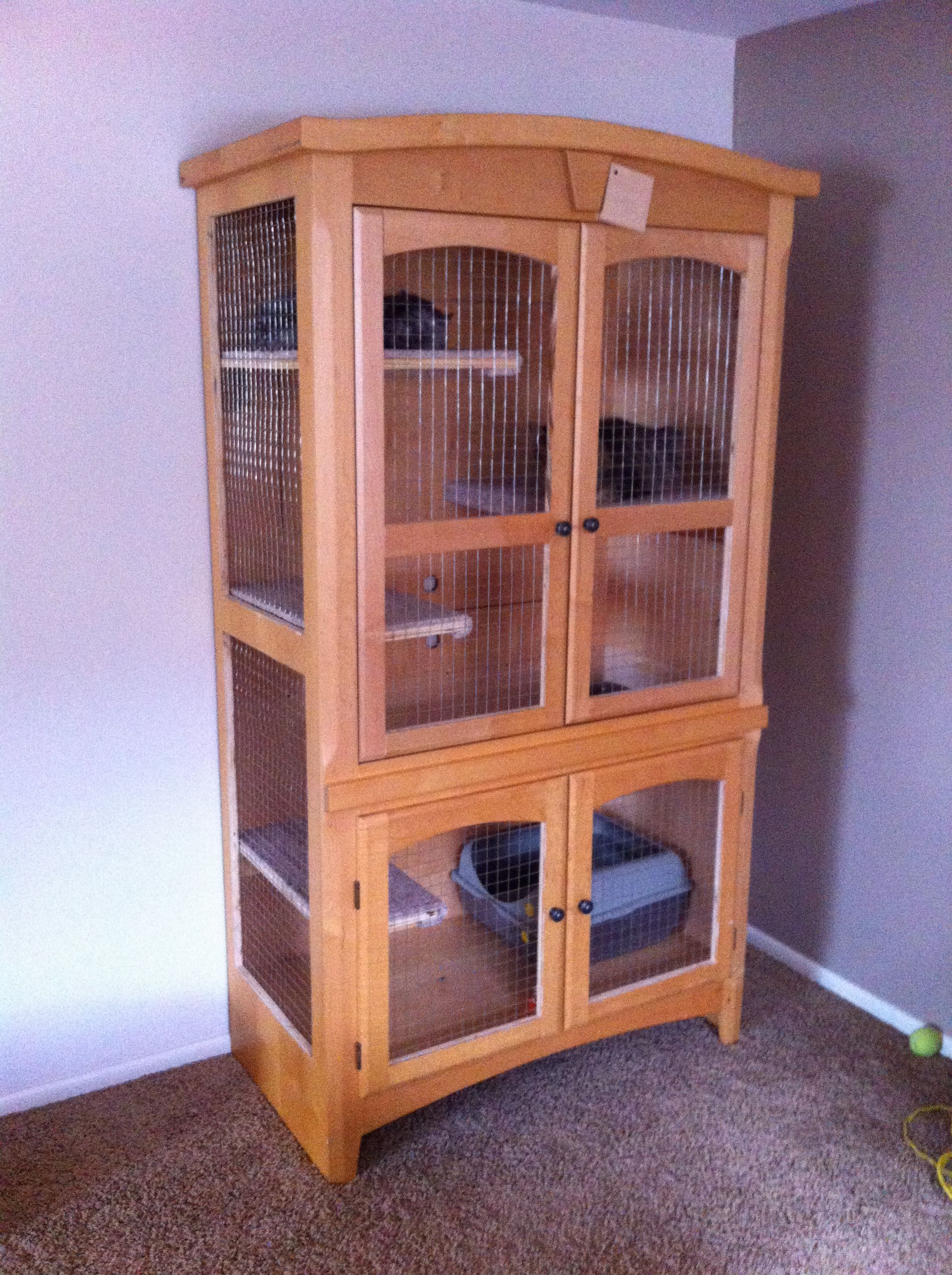 Cat Furniture For Sale Cat Cage A Wardrobe Refurbished For A Cat Cage For Sale