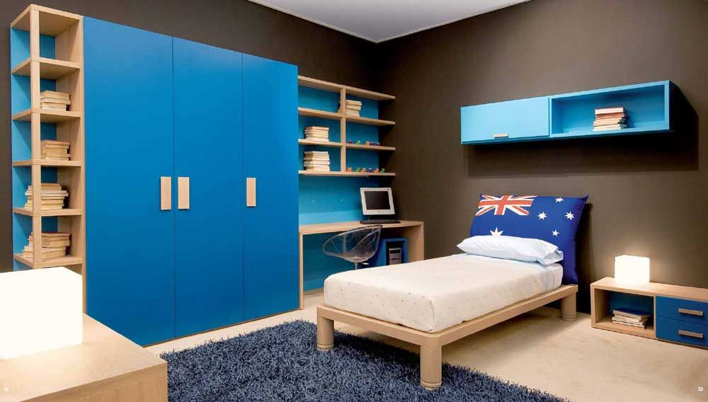 Simple Cupboard Designs for Bedrooms with wooden bed blue carpet - beautiful bedroom ideas for small rooms
