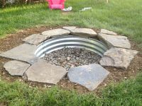 Built my in-ground fire pit this weekend! #fireplace # ...