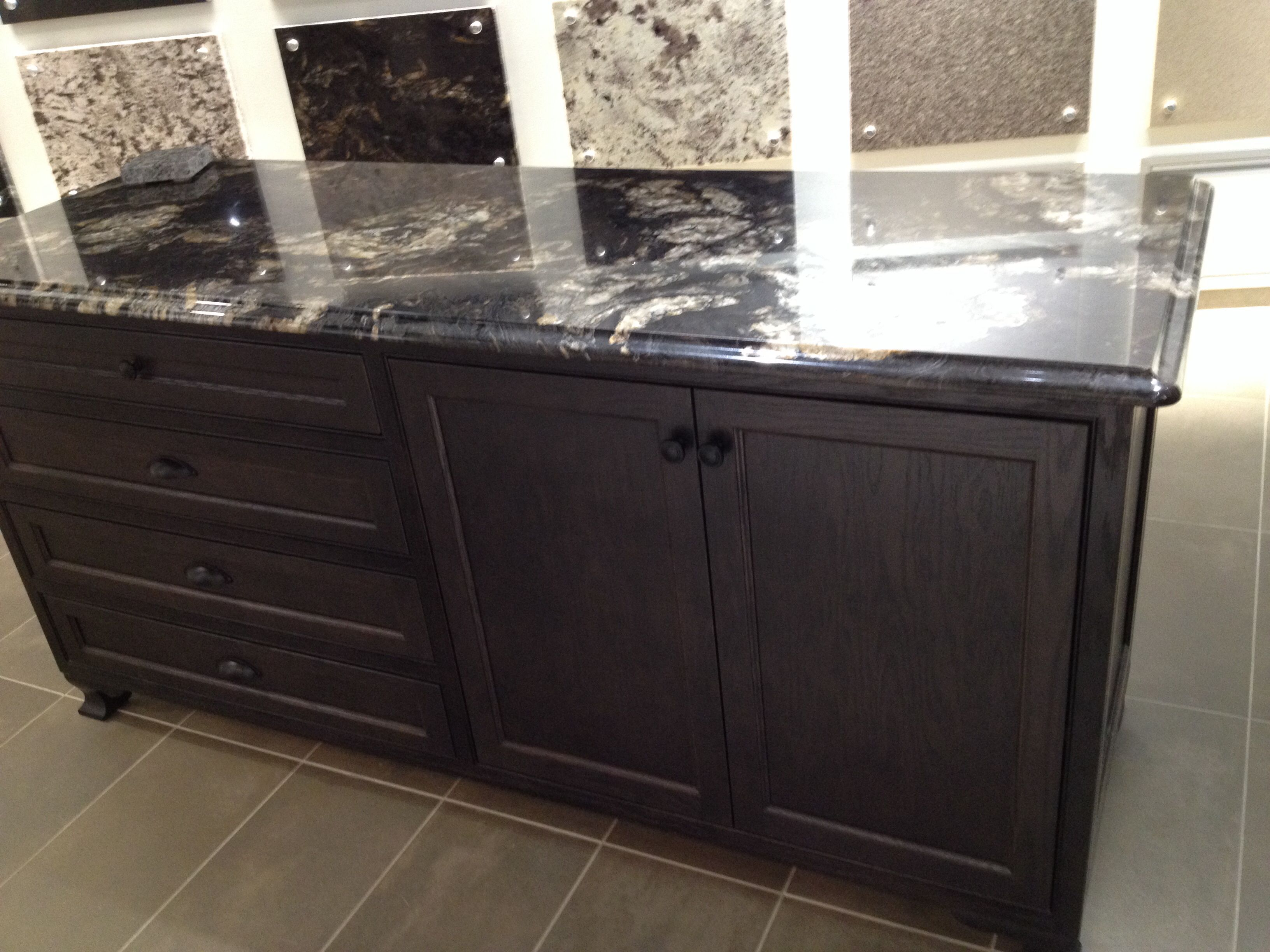 Black Titanium Granite Countertops Black Titanium Granite With Dark Brown Cabinets Home
