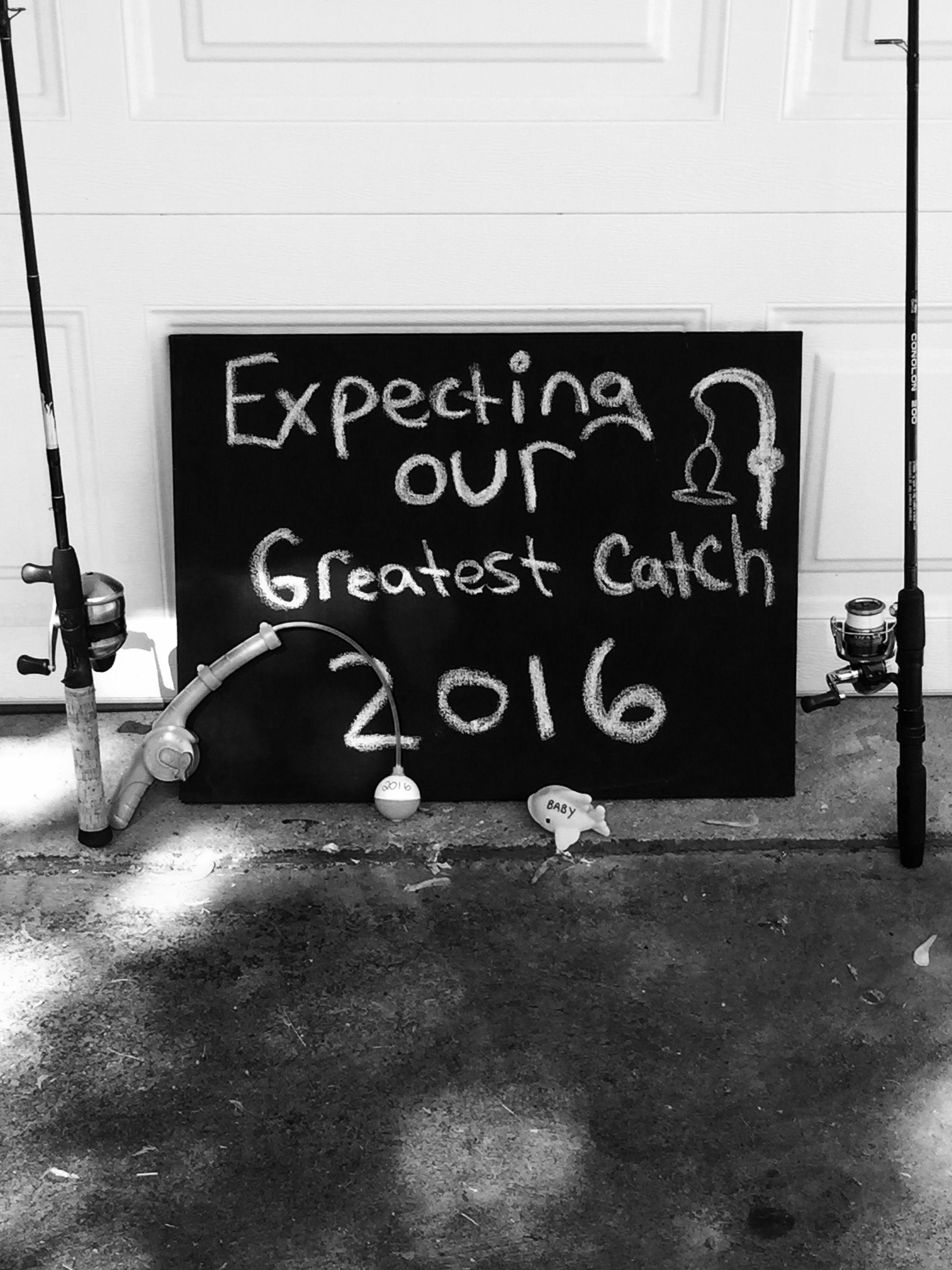 Fishing baby announcement idea