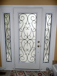 Decorative glass inserts for doors | Wrought Iron ...