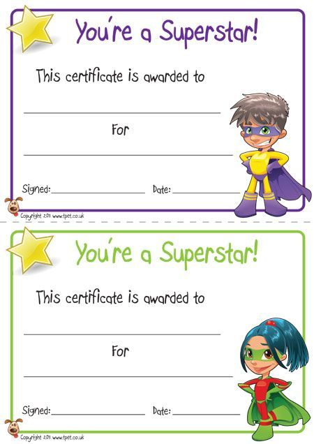 FREE printable superhero certificates for your super kids - free printable editable certificates