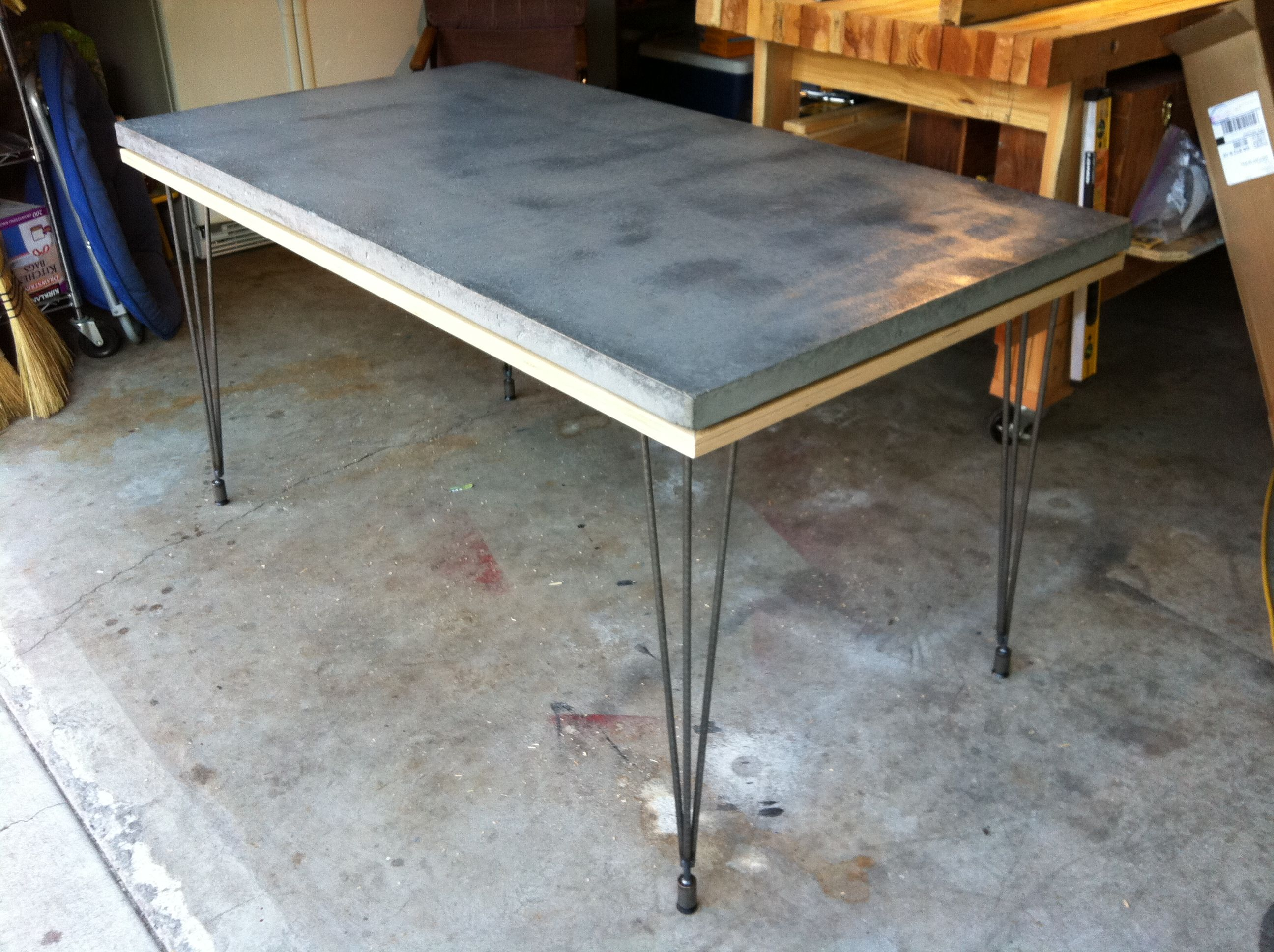 Concrete Table Top Lightweight Composite Concrete Table Top Urethane Coating