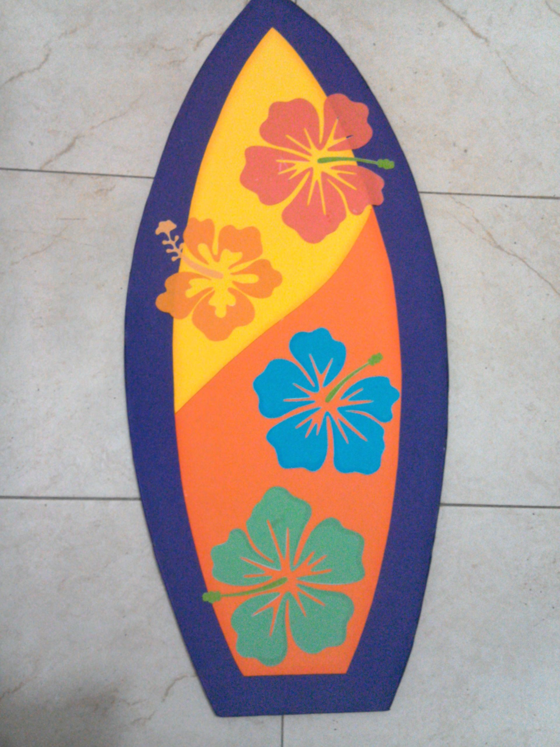 Tablas De Surf Decorativas Tabla De Surf Hecha En Foamy Para Fiesta Hawaiana