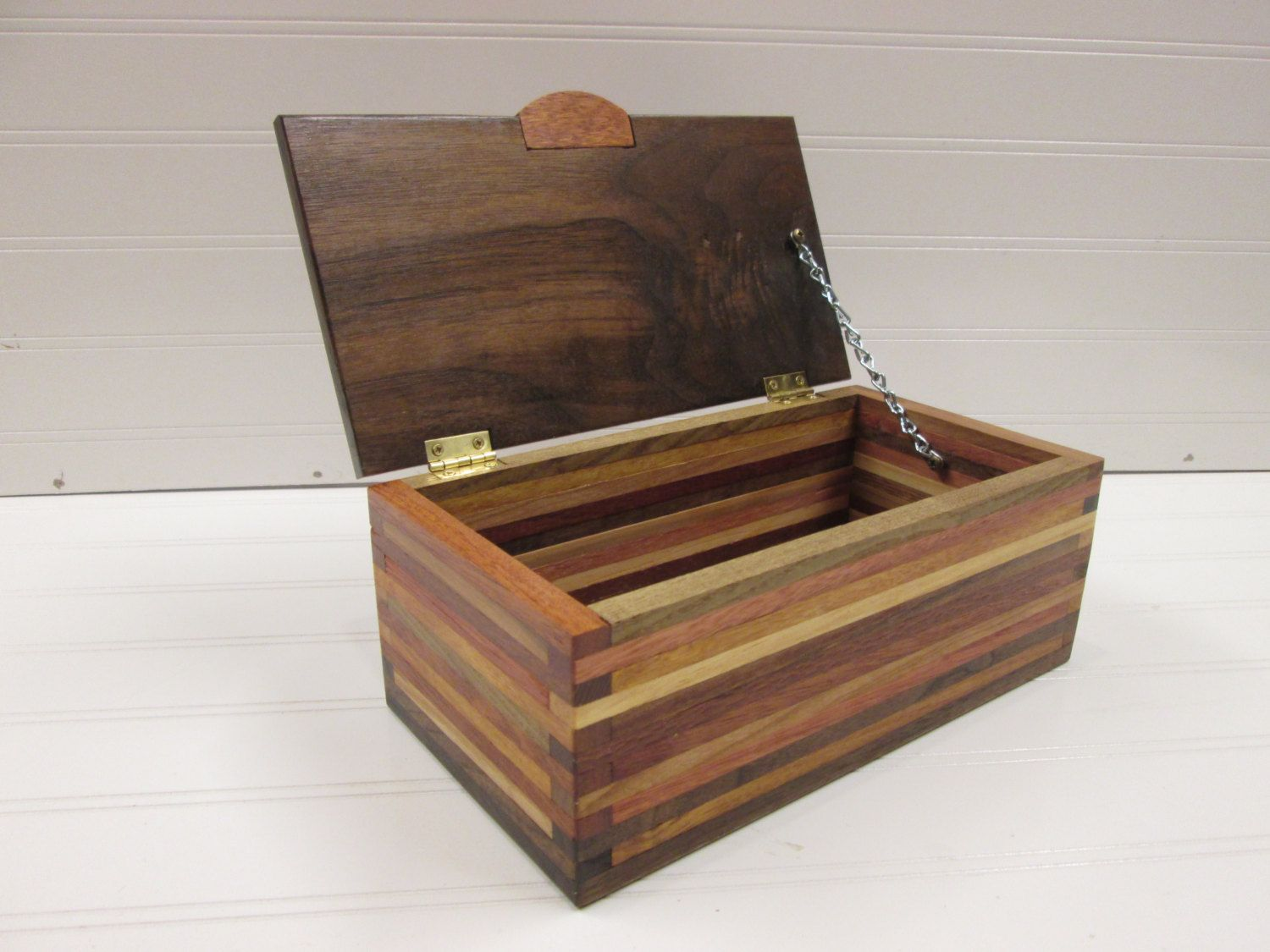 Wooden Box Desk Organizer Wood Box Scrap Wood Box by