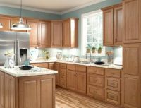 Furniture , Durable Oak Kitchen Cabinets : Honey Oak ...