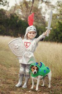 DIY Kids Knight Costume and Dragon Dog Costume   Halloween ...