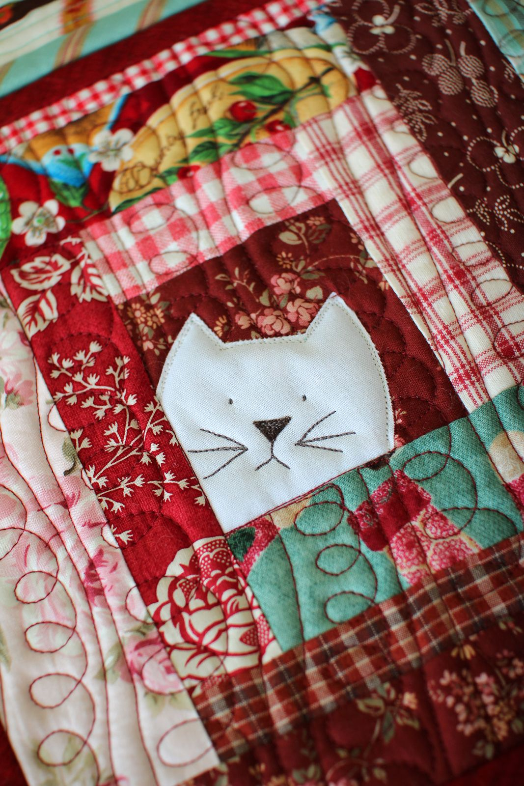Topflappen Patchwork Cat Potholder By Laurraine Yuyama Patchwork Pottery