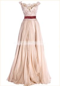 Princess Style Prom Dress Vintage Royal Court Dress Scoop ...