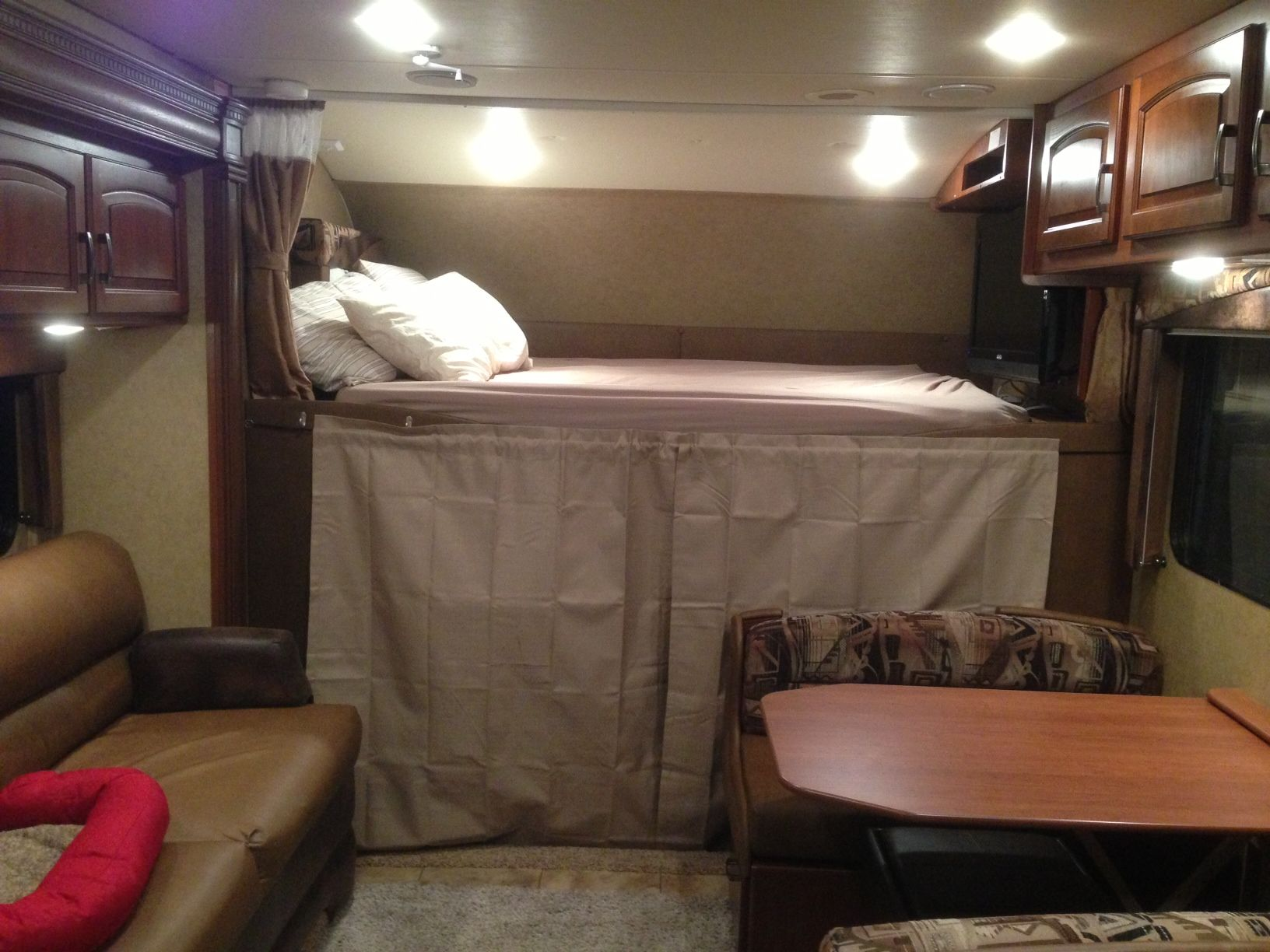 The cab area of an rv can experience a lot of heat transfer making the