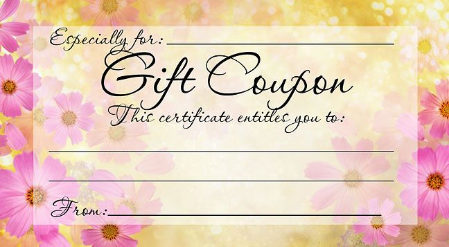 DIY FREE, PRINTABLE GIFT COUPON - Give a gift from the heart this - printable gift certificates free template