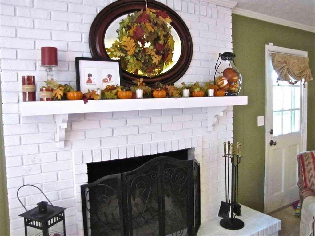 White Brick Fireplace Decorating Ideas Fireplace