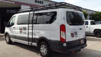 Ford Transit with Aluminess roof rack and ladder going to ...