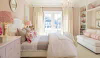 Elegant girl's bedroom designed for coastal living. Tags