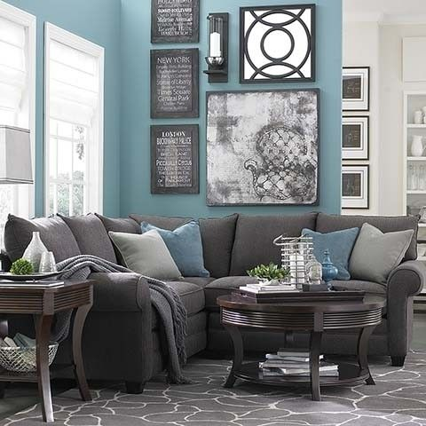 Charcoal Gray Sectional Sofa - Foter For the apartment - living room with sectional