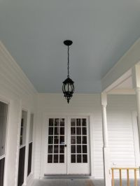 My blue porch ceiling. The color is Atmospheric from ...