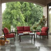 allen + roth 2-Piece Gatewood Outdoor Loveseat and Coffee ...