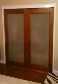 Custom size Frosted Glass Sliding Doors | Sliding Closet ...