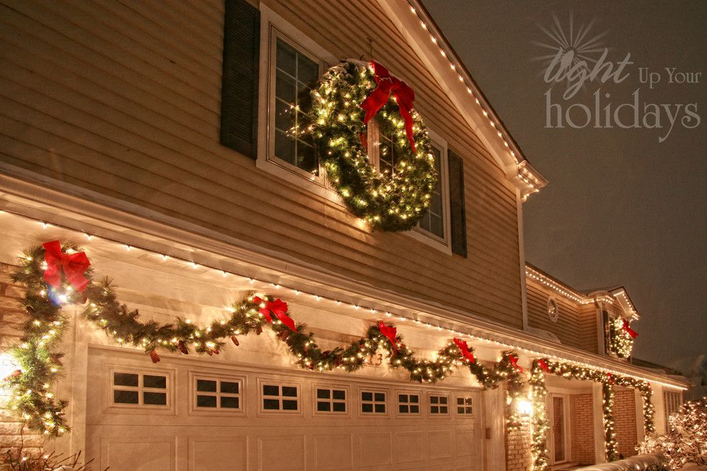 Exterior Christmas lighting idea Exactly what I want the outside - outdoor christmas lights decorations