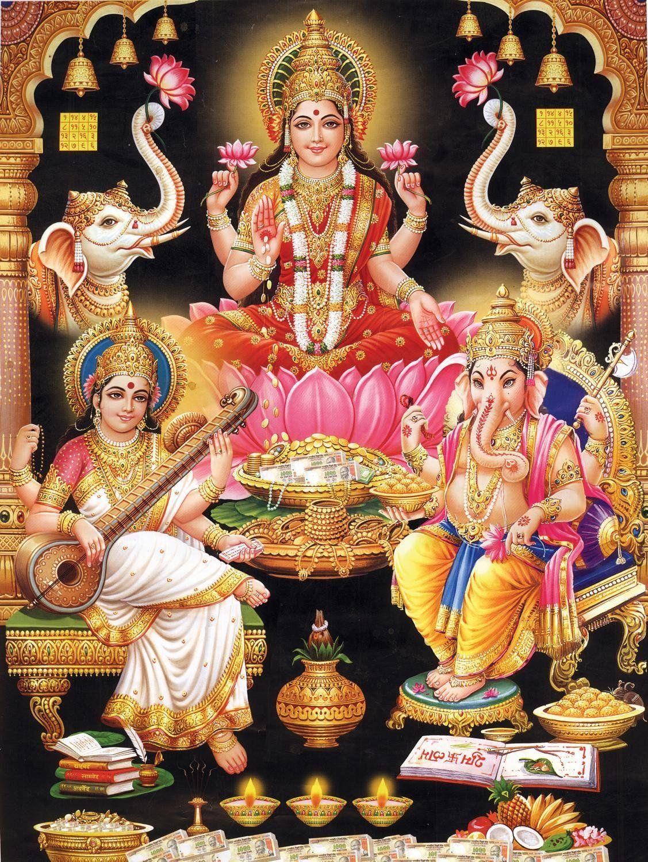 Lalitha 3d Name Wallpapers Amazon Com Indian Godess Maa Lakshmi 24 Quot H X 18 Quot W