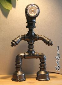 industrial pipe lamp, plomberie, dogpipe, Lampe mtal Loft ...
