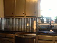 Corrugated metal backsplash | Kitchen counter tops ...