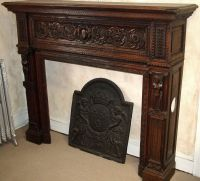 antique fireplace mantels | French, hand-carved wood ...