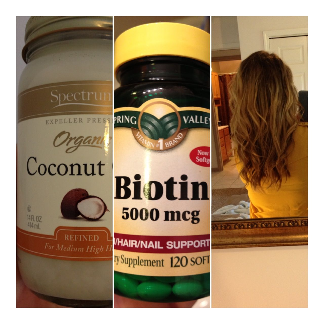 Diy Hair Mask Coconut Oil Coconut Oil Hair Mask Once A Week 43 Biotin Capsules Daily