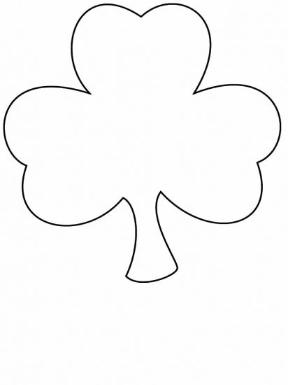 Free Printable Four Leaf Clover Templates u2013 Large \ Small Patterns - shamrock template