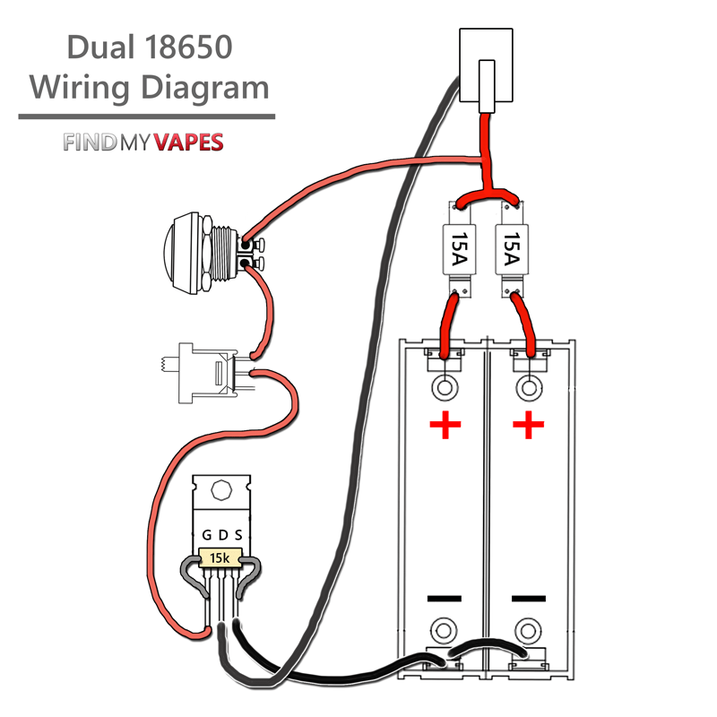 box mod wiring diagram mosfet