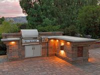 paver stone patio ideas patio with bbq lighting built in