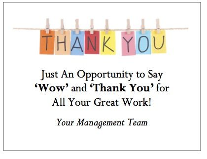 Make Your Workplace Thank You a Commitment for 2017 - thank you note to employee