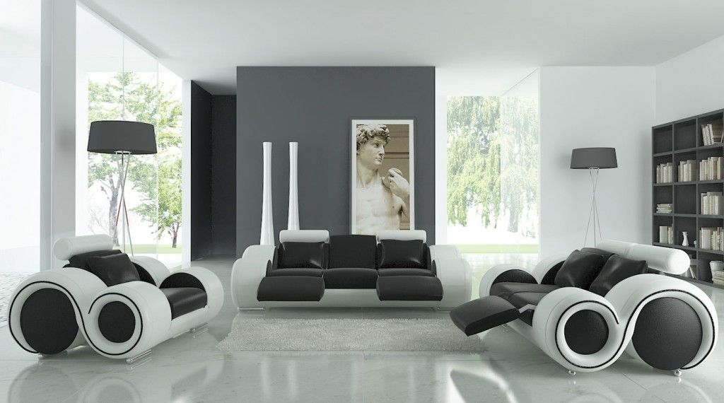 Black And White Living Room Furniture Advantages of Applying - red and black living room set