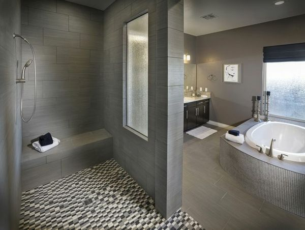 badezimmer gestaltungsideen mosaik bodenbelag jacuzzi Badezimmer - badezimmer bodenbelag