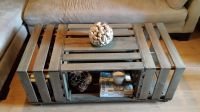 Rolling Rectangle Wood Crate Coffee Table   Wood Crate ...