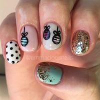 Christmas nails ornament nails holiday nails winter nails ...