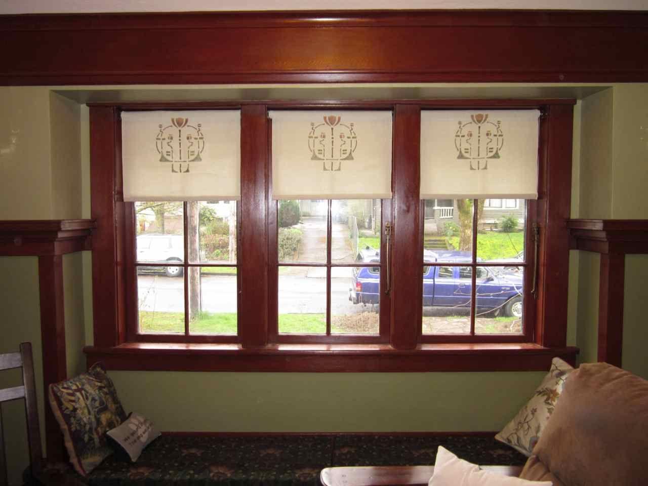 Laurelhurst 1912 craftsman window coverings
