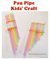 Straw Pan Pipe Craft for Kids | Craft, Pipes and Activities