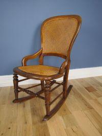 Victorian Bergere Cane Rocking Chair / Nursing Chair New ...